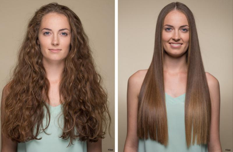Keratin Haarverwandlung vorher-nachher